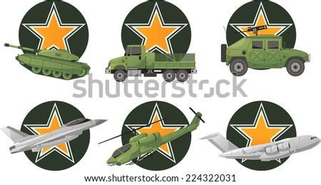 war vehicles with star shape