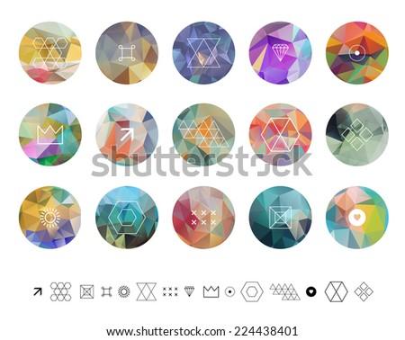 set of colored geometric