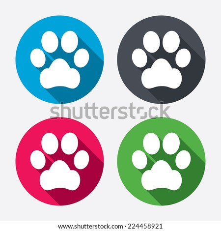 dog paw sign icon pets symbol
