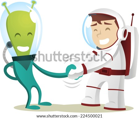humans and aliens meet at last