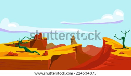 landscape of the wild west