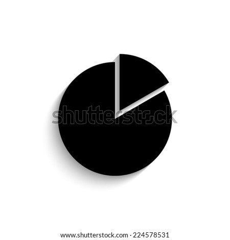 pie chart graph sign icon