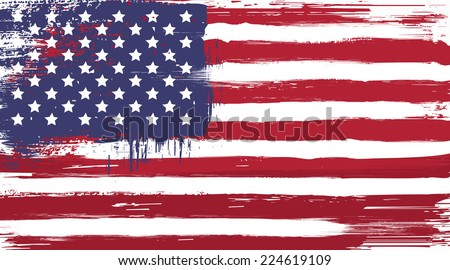 vector usa grunge flag  painted