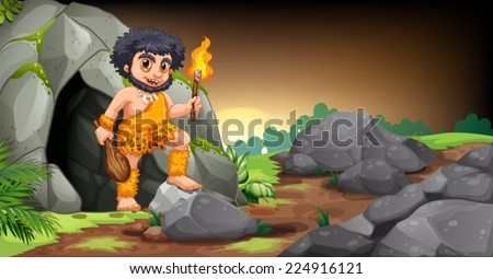 illustration of a caveman