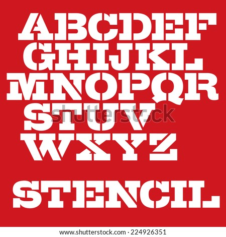 military stencil typeface