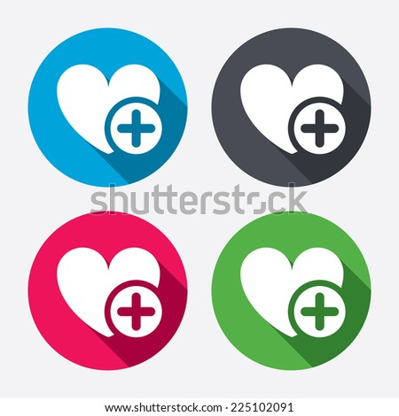 heart sign icon add lover