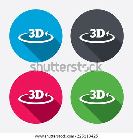3d sign icon 3d new technology