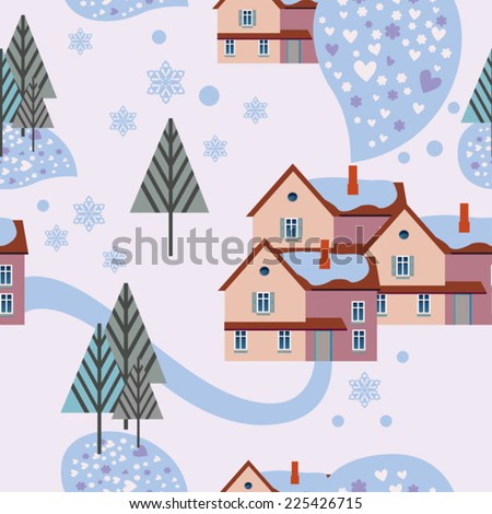 light winter background with