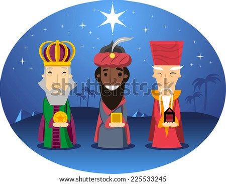 three wise kings looking for