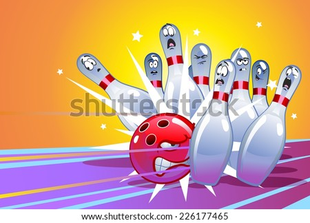 funny cartoon bowling