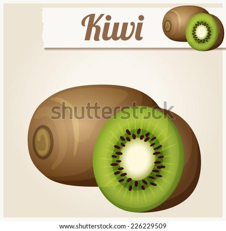 kiwi detailed vector icon