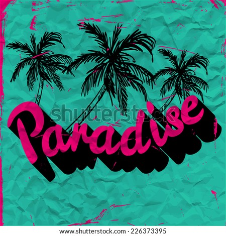 paradise  vector floral artwork