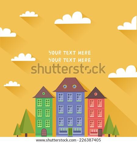 suburban houses in neighborhood