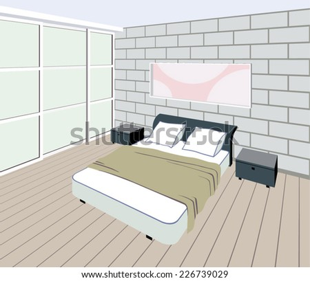 bedroom interior with a
