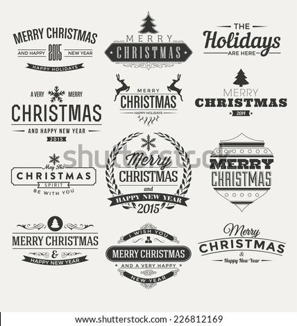 vintage christmas insignia set