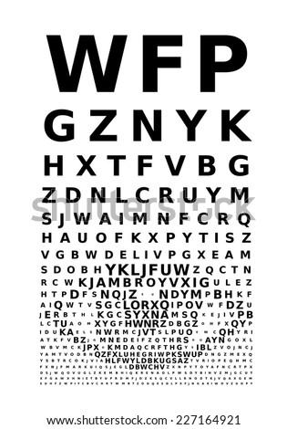 eye chart concept eps8 rgb