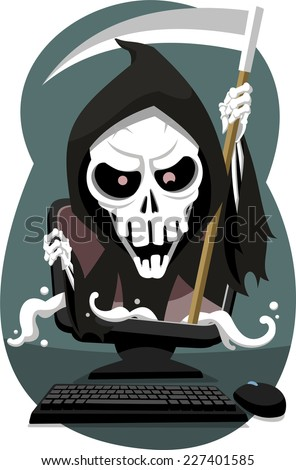 grim reaper coming out of