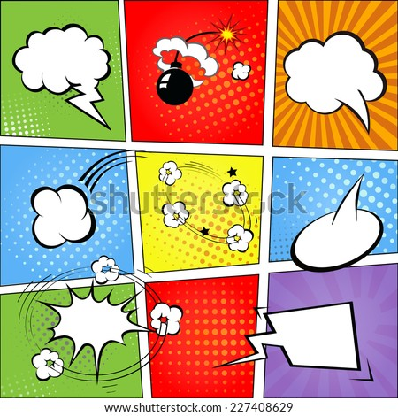 comic speech bubbles and comic