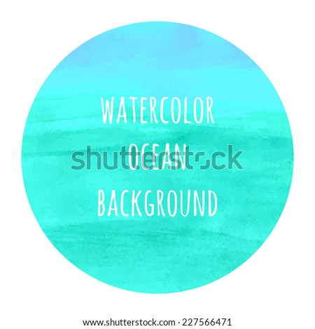 ocean colors watercolor