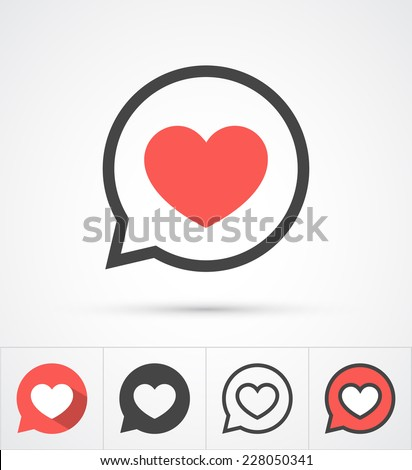 heart in speech bubble icon