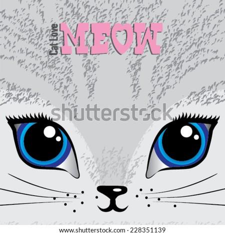 meow   vector sketch concept