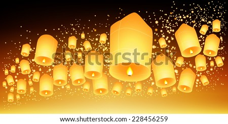 thailand sky lanterns festival