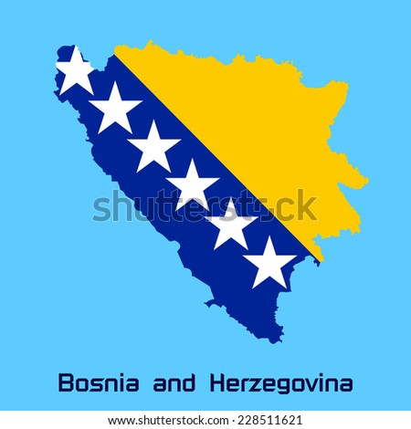 vector map of bosnia and