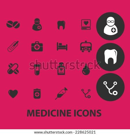 medicine  health black isolated