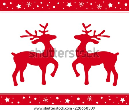 cristmas ornament with deers in