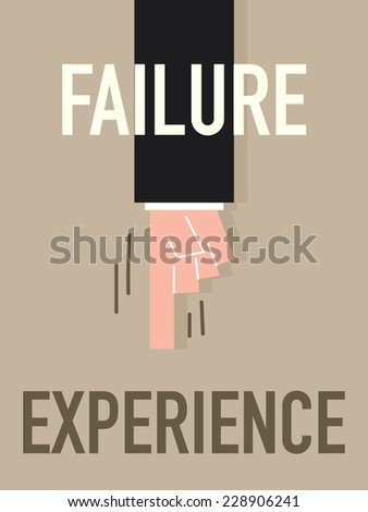 word failure vector illustration