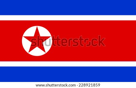 national flag of north korea