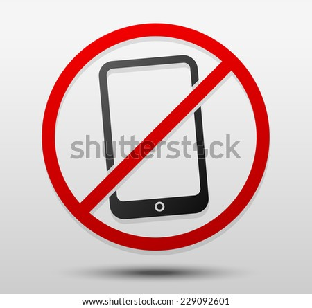 smartphone w  prohibitive sign