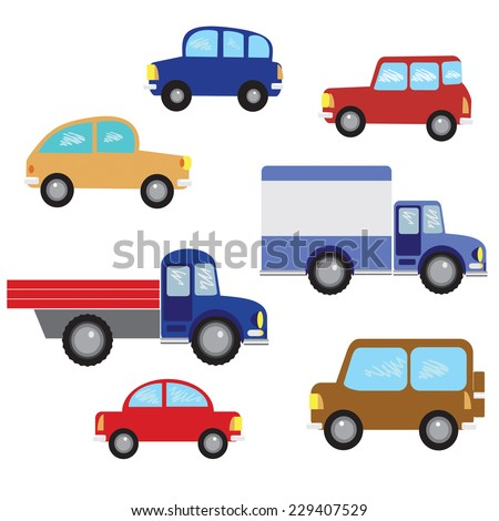 vector set  vintage cars a
