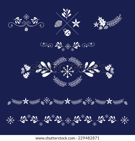 vector set of ornaments for