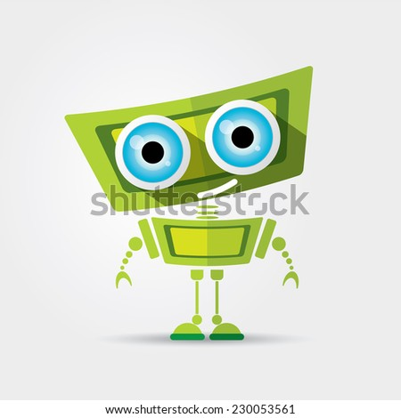 cartoon character cute green