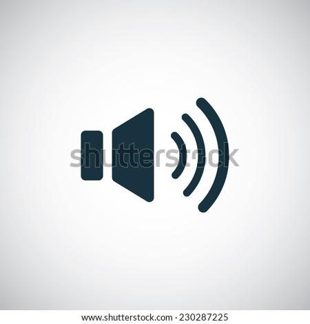 sound icon on white background