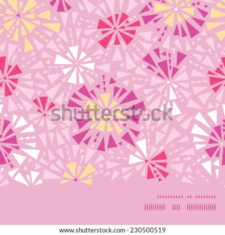 vector pink abstract triangles