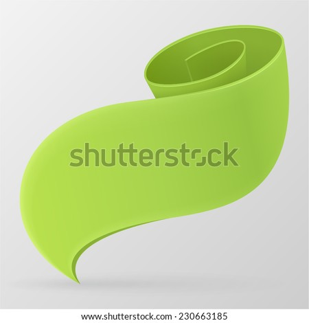 green ribbon vector design