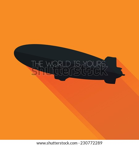 zeppelin silhouette with  the