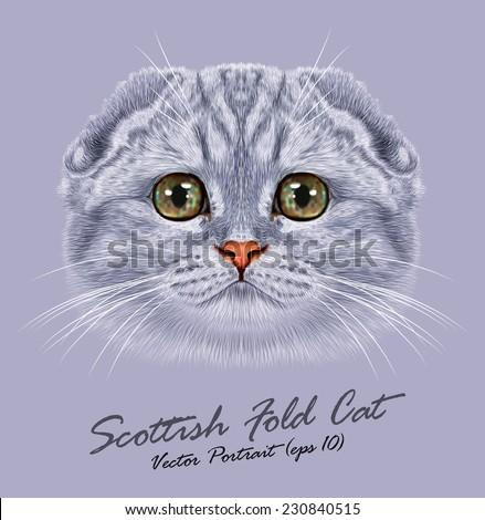 vector portrait of scottish
