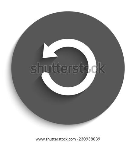 undo symbol     vector icon