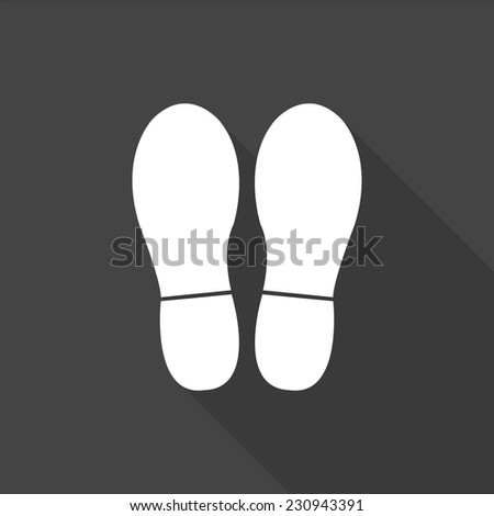 bootprints icon   vector