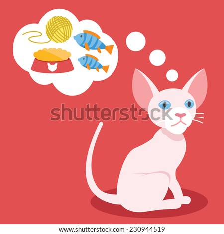 vector cat with blue eyes