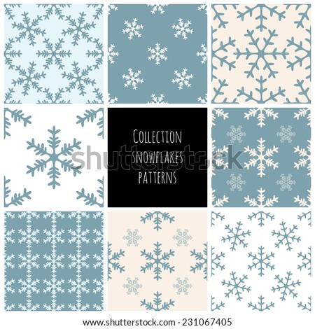 snowflakes vector seamless
