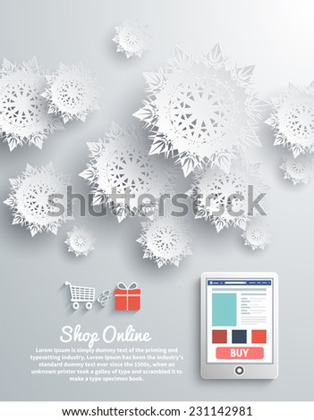 paper snowflakes and modern