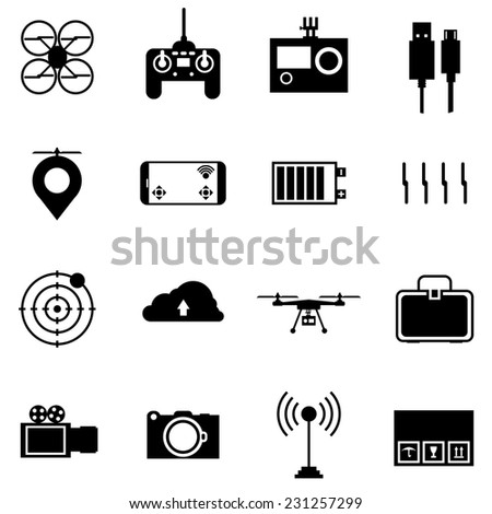 black vector icons for