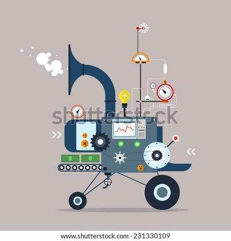 start up business machine