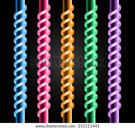 colorful neon lamp  fluorescent