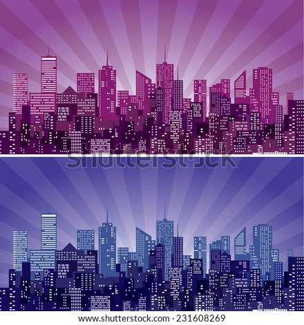 vector abstract cityscape with