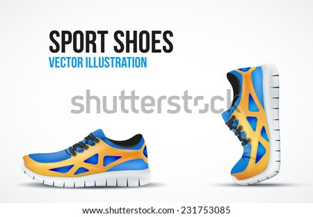 background of two running shoes